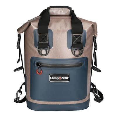 Back Pack or Carry Bag Cooler in Beige and Blue