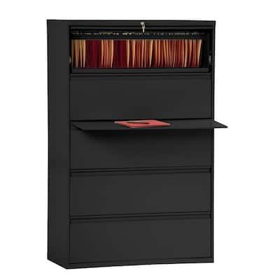 800 Series Black File Cabinet