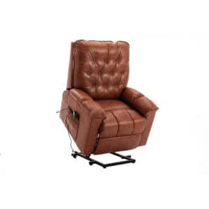 Elderly Heavy Duty Heated Massage Power Lift Recliner Chair with Remote Control and Soft Microfiber Fabric (Coffee)