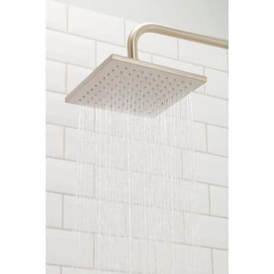 1-Spray 8 in. Single Ceiling MountHigh Pressure Fixed Rain Shower Head in Matte Black