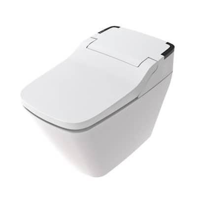 Stylement Tankless Smart Toilet Integrated Bidet in White w/Auto Flush, Night Light, Heated Seat