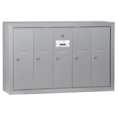 Aluminum Surface-Mounted USPS Access Vertical Mailbox with 5 Doors