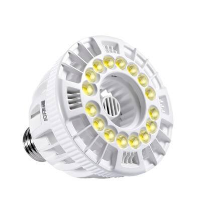15-Watt E26 Full Spectrum LED Grow Light Bulb for Hydroponic Indoor Garden, Sunlight White, Full Cycle