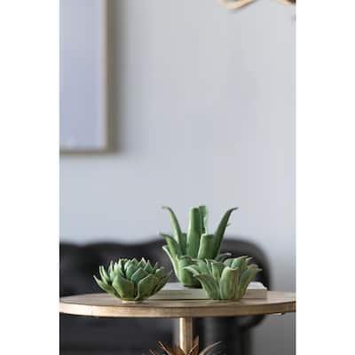Green Porcelain Candle Holder