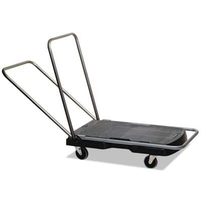 Utility Duty Triple Trolley with Straight Handle and Casters
