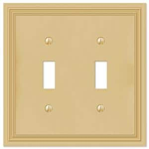 Brass 2-Gang Toggle Wall Plate (1-Pack)