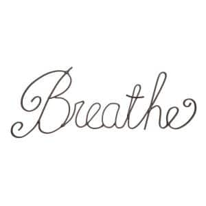 ''Breathe'' Decorative Metal Cutout Wall Sign