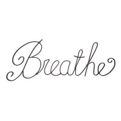 """Breathe"" Decorative Metal Cutout Wall Sign"