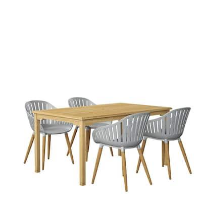 Livonia 5-Piece Teak Rectangular Outdoor Dining Set