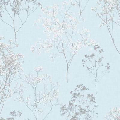 Queen Anne's Lace Vinyl Roll Wallpaper (Covers 55 sq. ft.)