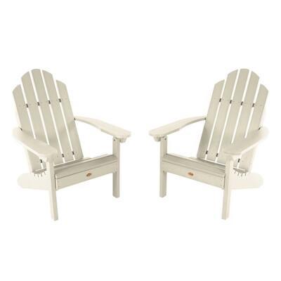 Classic Westport Whitewash Plastic Adirondack Chair (2-Pack)