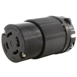 NEMA 30 Amp 125/250-Volt 4-Prong Locking Female Connector with UL C-UL Listing
