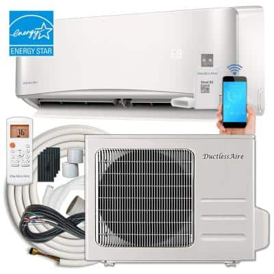 21 SEER 12,000 BTU 1 Ton Wi-Fi Ductless Mini Split Air Conditioner and Heat Pump Variable Speed Inverter - 220V/60Hz