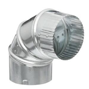 4 in. Aluminum 90-Degree Round Adjustable Elbow