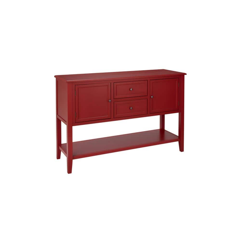 Home Decorators Collection Burton 56 In Red Standard Rectangle Wood Console Table With Drawers Sk19337r2 C The Home Depot