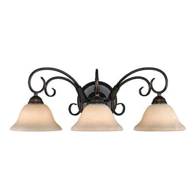 Homestead Collection 3-Light Rubbed Bronze Bath Vanity Light