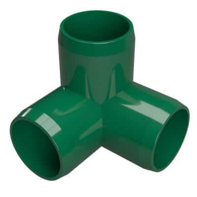 1/2 in. Furniture Grade PVC 3-Way Elbow in Green (10-Pack)