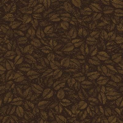 Amorina Brown Leaf Paper Strippable Roll Wallpaper (Covers 57.8 sq. ft.)