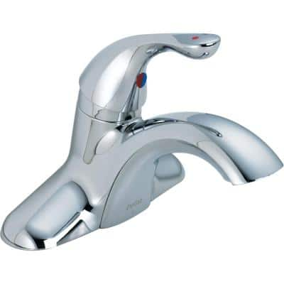 Commercial 4 in. Centerset Single-Handle Bathroom Faucet in Chrome
