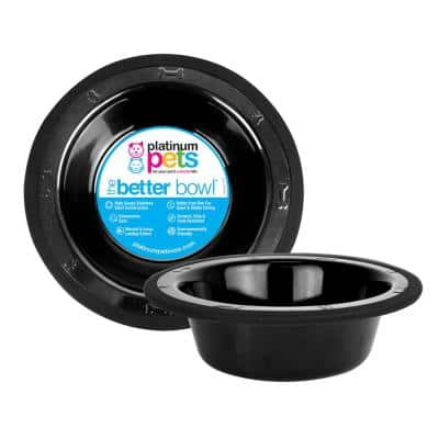 Switchin 10 cup Pets Stainless Steel Diner Feeder Replacement Bowl in Midnight Black