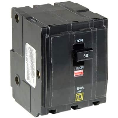QO 50 Amp 3-Pole Plug-In Circuit Breaker