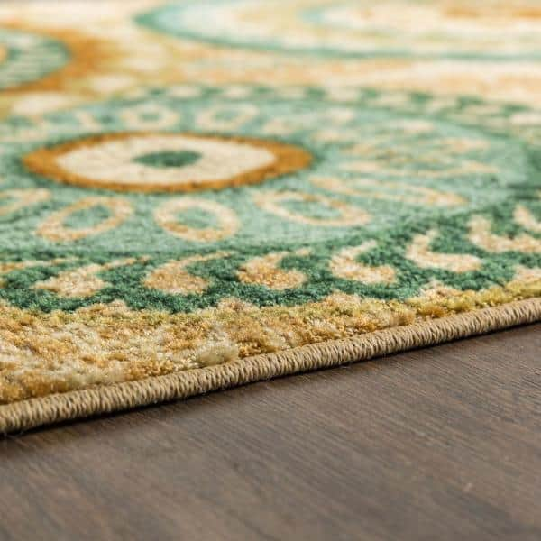 Mohawk Home - Forest Suzani Multi 5 ft. x 8 ft. Medallion Area Rug