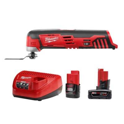 M12 12-Volt Lithium-Ion Cordless Oscillating Multi-Tool with One M12 4.0 Ah and One M12 2.0 Ah Battery Pack and Charger