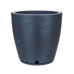 Amsterdan Large Dark Grey Resin Planter Bowl