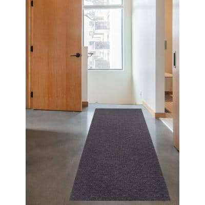 Marathon Cut to Size Dark Gray Color 26 inches Width x Your Choice Length Custom Size Slip Resistant Runner Rug