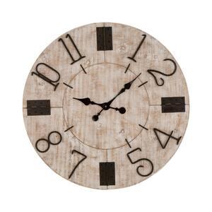 28 in. Farmhouse Wooden Wall Clock