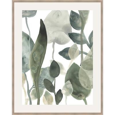 30 in. x 24 in. 'WATER LEAVES III' by June Erica Vess Framed Wall Art