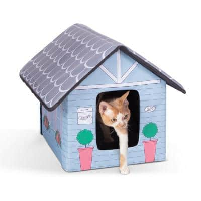 Outdoor Kitty House-Cottage Style-18 in. x 22 in. 17 in.