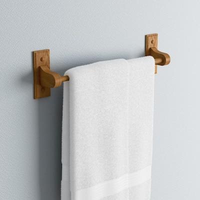 Dalton 18 in. Towel Bar in Honey Oak