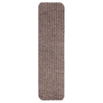Livesaver Collection Beige 8 in. x 30 in. Scrape Ribbed Stair Tread Cover (Set of 7)