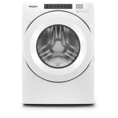 4.3 cu. ft. White Closet Depth Stackable Front Load Washing Machine with Single Dose Dispenser, ENERGY STAR
