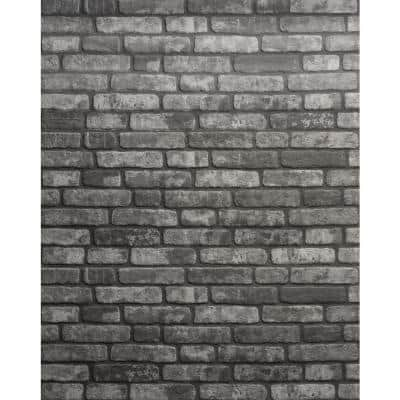 0.79 in. x 19.69 in. x 47.24 in. UltraLight Faux Brick Anthracite HD Printed Jointless Common Plank (4-Pack)