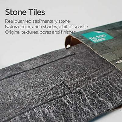 4-sheets Silver Pearl 24 in. x 6 in. Peel, Stick Self-Adhesive Decorative 3D Stone Tile Backsplash (3.87 sq.ft. / pack)