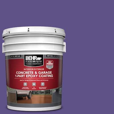 5 gal. #P560-7 Kings Court Self-Priming 1-Part Epoxy Satin Interior/Exterior Concrete and Garage Floor Paint