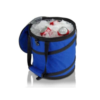 24 Can Lightweight, Insulated, Waterproof, Portable and Collapsible Pop Up Cooler in Blue for Travel, Picnics, Hiking