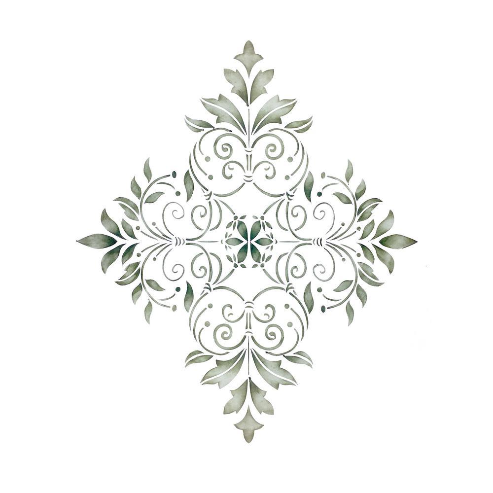 Large Decorative Diamond Wall Stencil