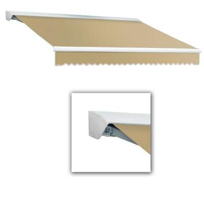 12 ft. DESTIN-LX with Hood Left Motor with Remote Retractable Awning (120 in. Projection) in Tan