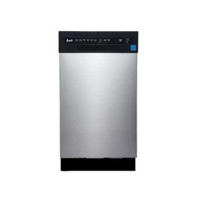 18 in. Stainless Steel Front Control Smart Dishwasher, 120-volt