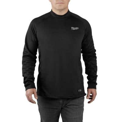 Men's Small Black Heated WORKSKIN USB Rechargeable Midweight Base Layer Shirt