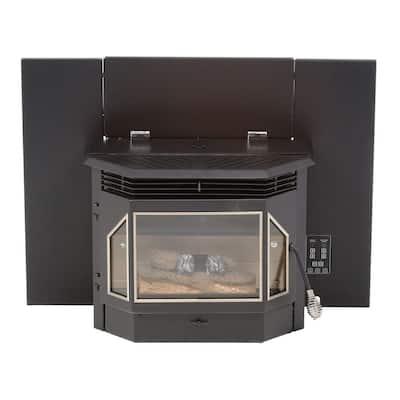 28.5 in. 2000 sq. ft. Pellet Burning Fireplace Insert