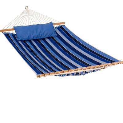 Sunbrella 13 ft. Reversible Quilted Hammock Bed Hammock in Cobalt Blue
