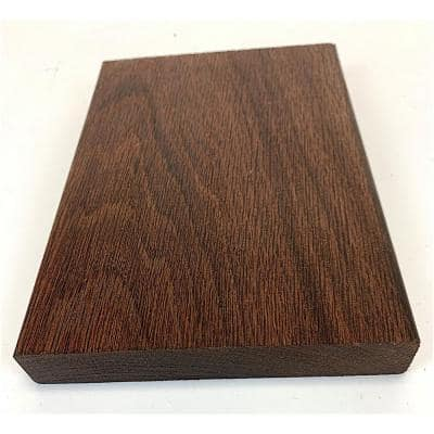 WellDone 1 in. x 5 in. x 8 in. Thermally-Treated Premium Oak 4-Sides Oiled Decking Board Sample
