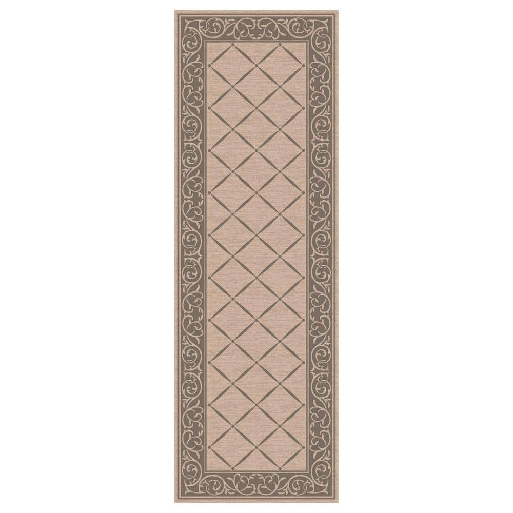 Trafficmaster Horchow Tan 2 Ft X 5 Ft Accent Rug Mt1004425us The Home Depot