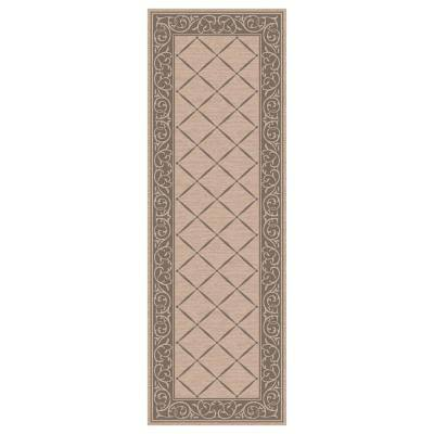 Horchow Tan 2 ft. x 5 ft. Accent Rug