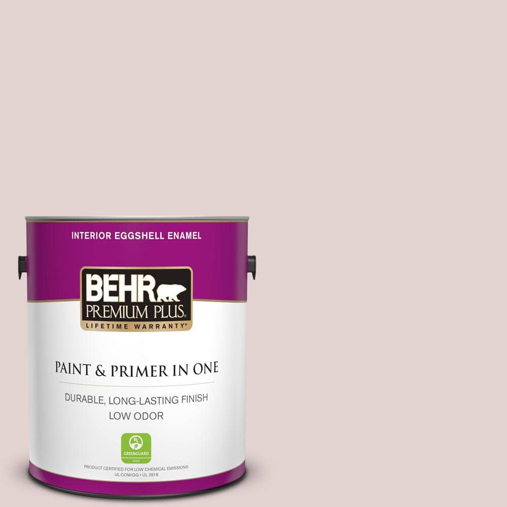Behr Premium Plus 1 Gal 180e 2 Sugar Berry Eggshell Enamel Low Odor Interior Paint And Primer In One 205001 The Home Depot
