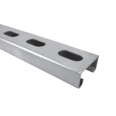 10 ft. 14-Gauge Silver Electro-Galvanized Strut Channel